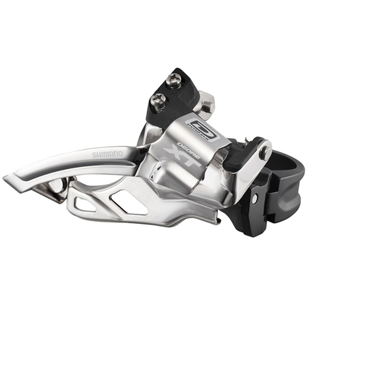 Dérailleur avant VTT Shimano Deore XT 10V Double collier bas 31,8/28,6 Tirage Haut / Bas