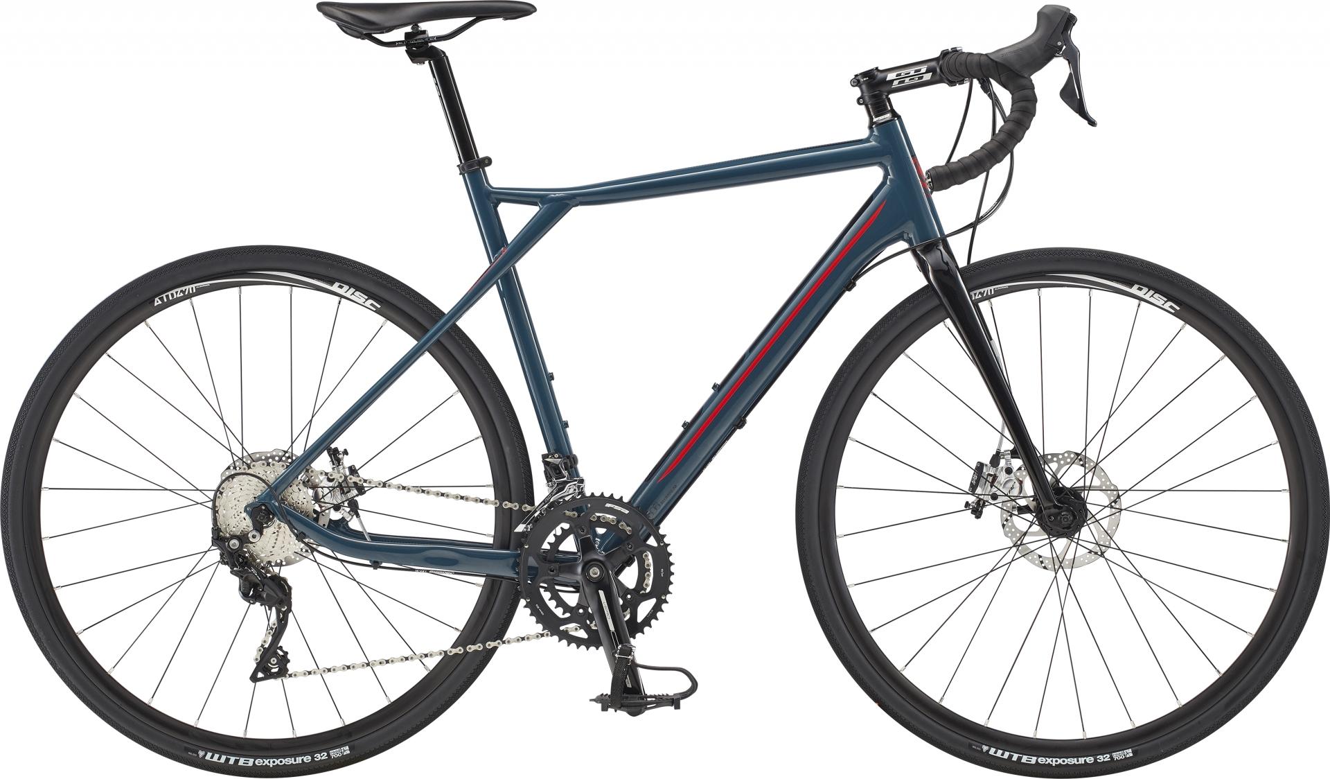Vélo gravel GT Grade Alloy Expert Gris Slate/Rouge - S / 53 cm