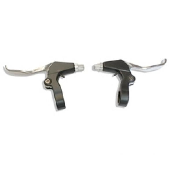 Levier de frein VTT/VTC alu 3/4 doigts (la paire)