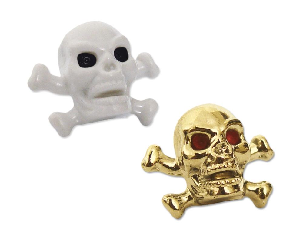 Bouchons de valves SB3 Skullz and Bones Argent