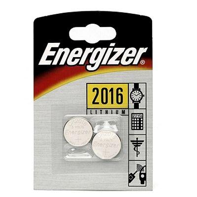 Pile Energizer CR2016 Lithium 3V (Jeu de 2)