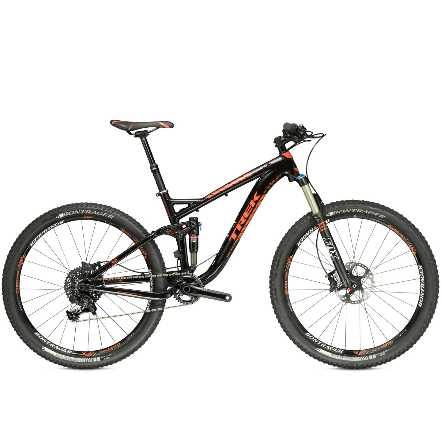 VTT tout-suspendu Trek Fuel EX 9 27.5 (Trek Black/Rhymes with Orange) 2015 - 17,5 pouces
