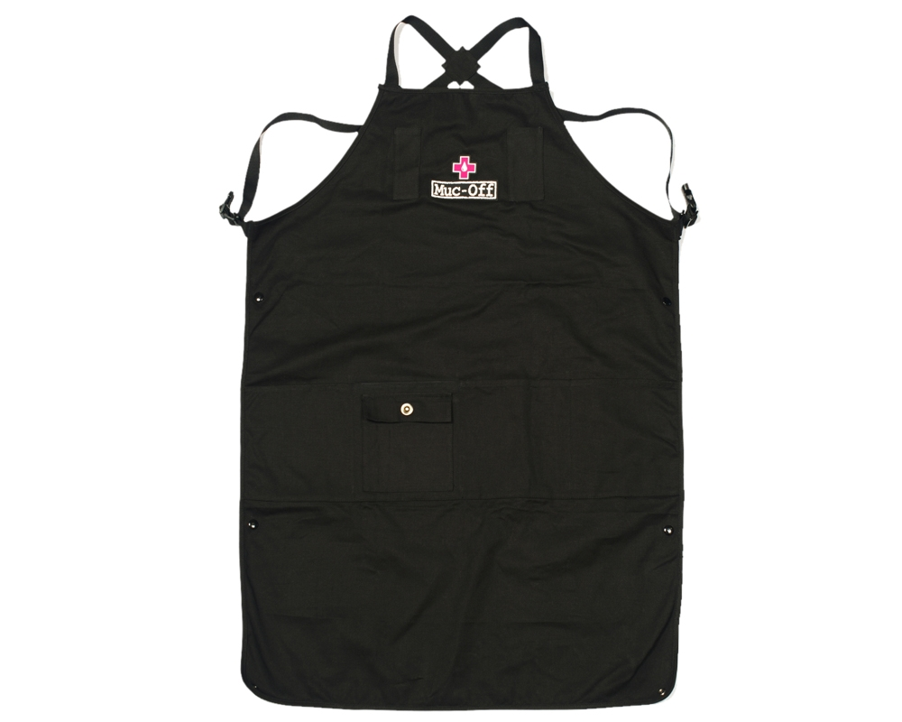 Tablier datelier professionnel Muc-Off 7 poches Noir