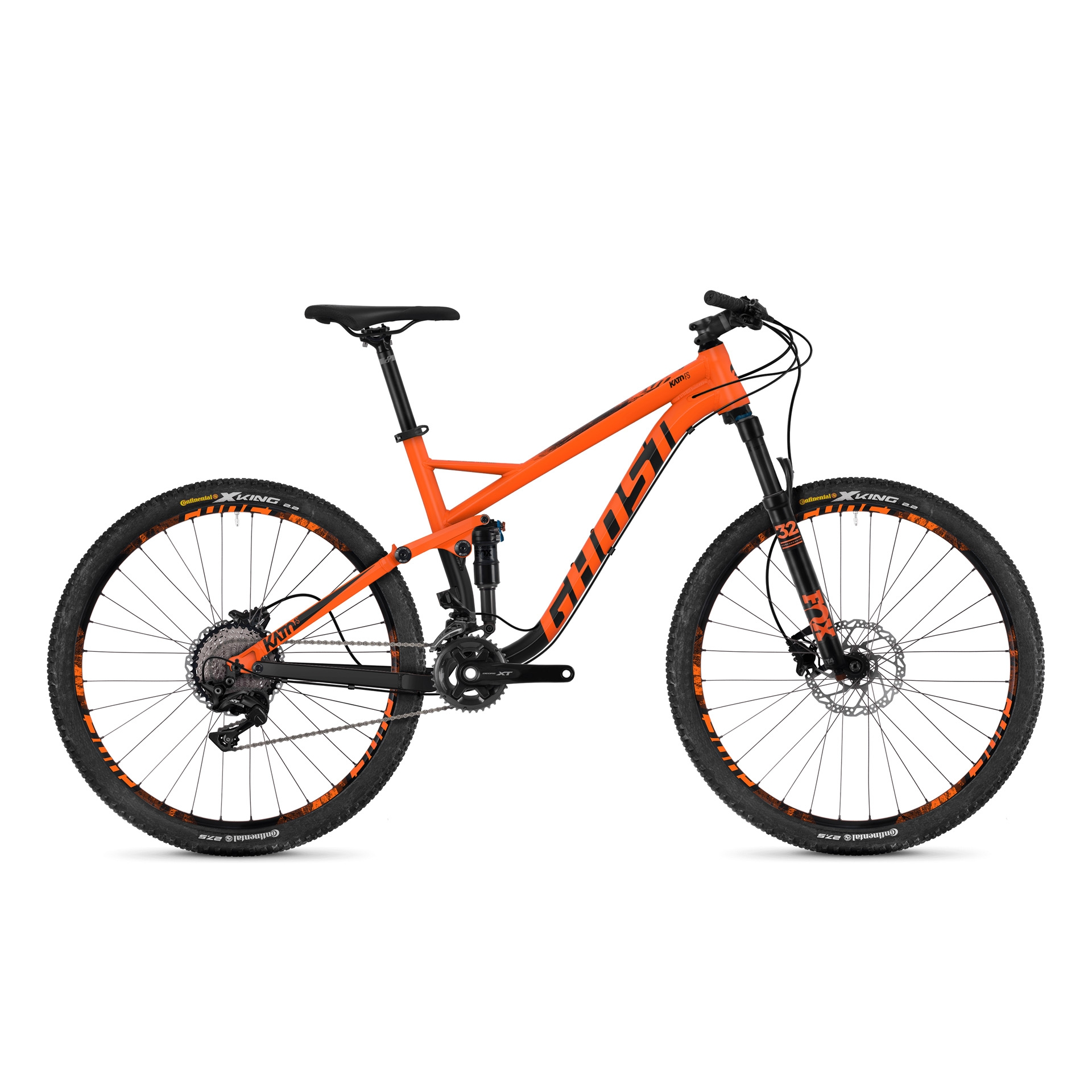 VTT tout suspendu Ghost Kato FS 5.7 27.5 Orange/Noir - L