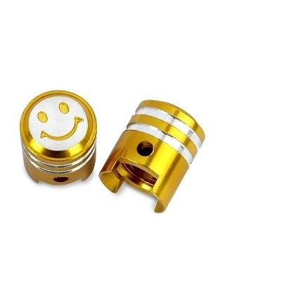 Bouchon de valve WTP Schrader Piston Or (La Paire)