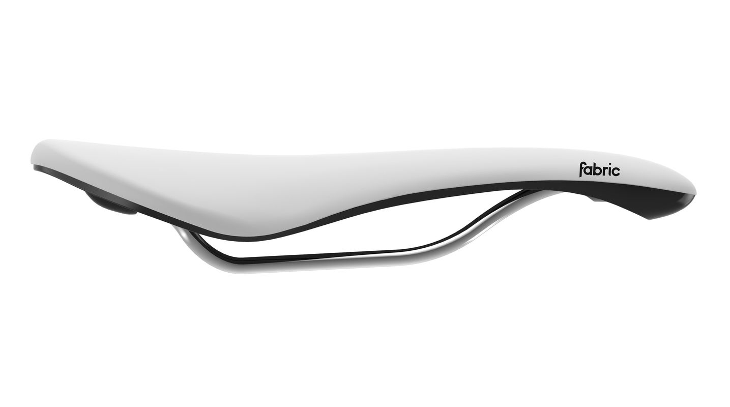 Selle Fabric Scoop Shallow Elite 142 mm Blanc/Noir