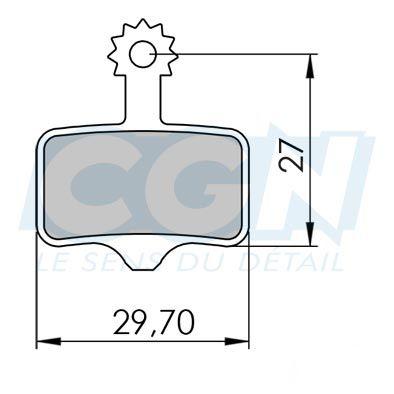 Plaquettes de frein 04 Clarks comp. Avid Elixir / SRAM XX Organique