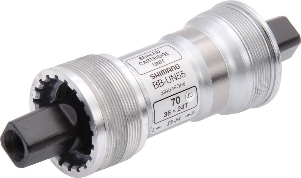 Boîtier de pédalier Shimano BB-UN55 Carré Italien 70 x 113 mm