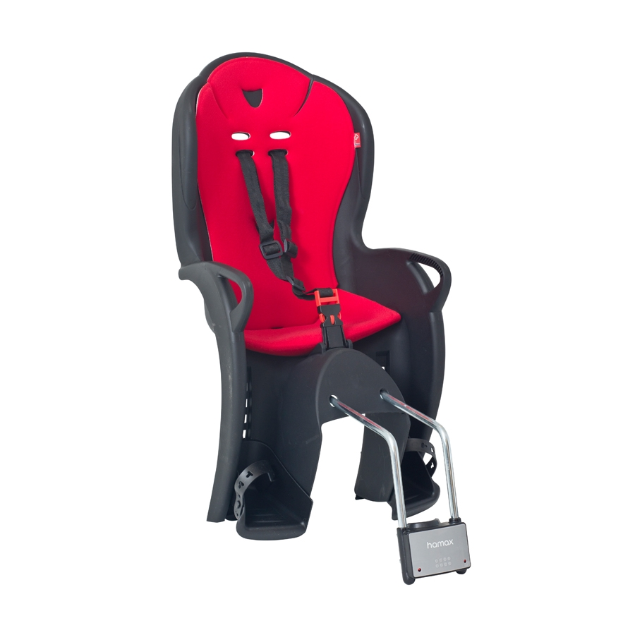 Siège enfant Hamax Kiss sur cadre Noir/Rouge