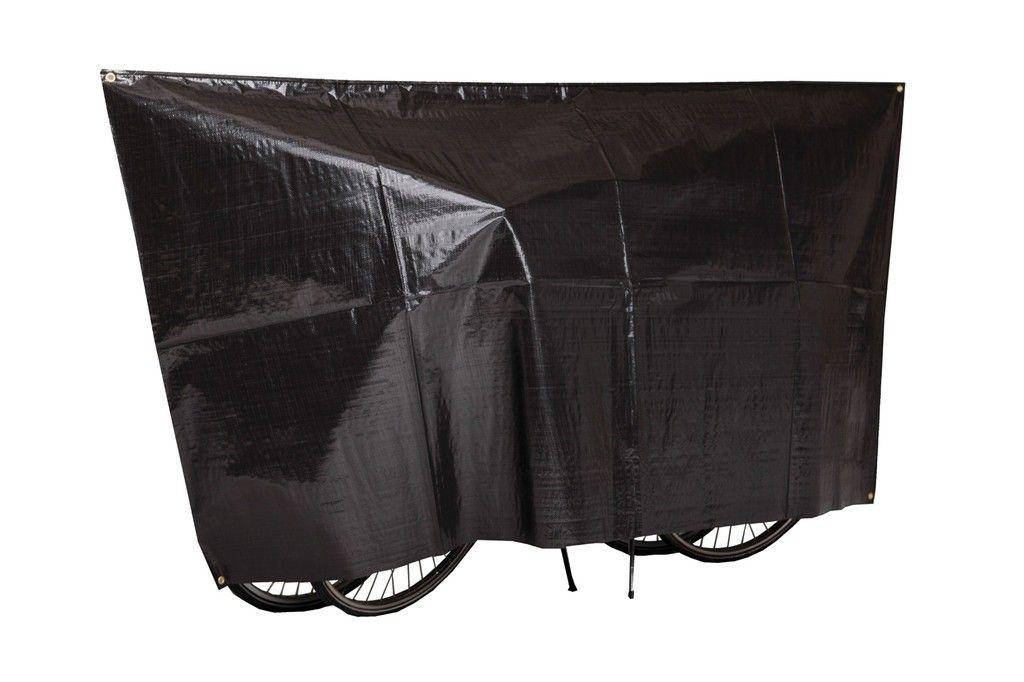 Housse 2 vélos VK avec illets et cordon Noir