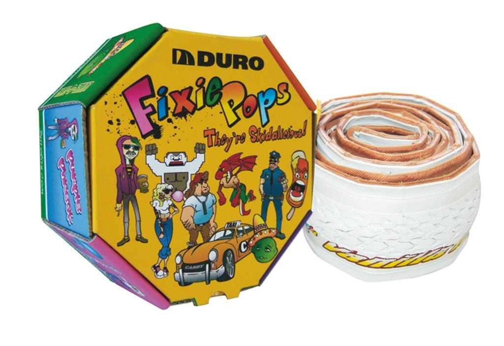Pneu Duro Fixie Pops 700x24C TS Vanille/Blanc