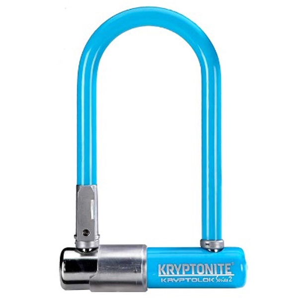 Antivol Kryptonite KryptoLok Series 2 Mini-7 U + Support cadre Bleu