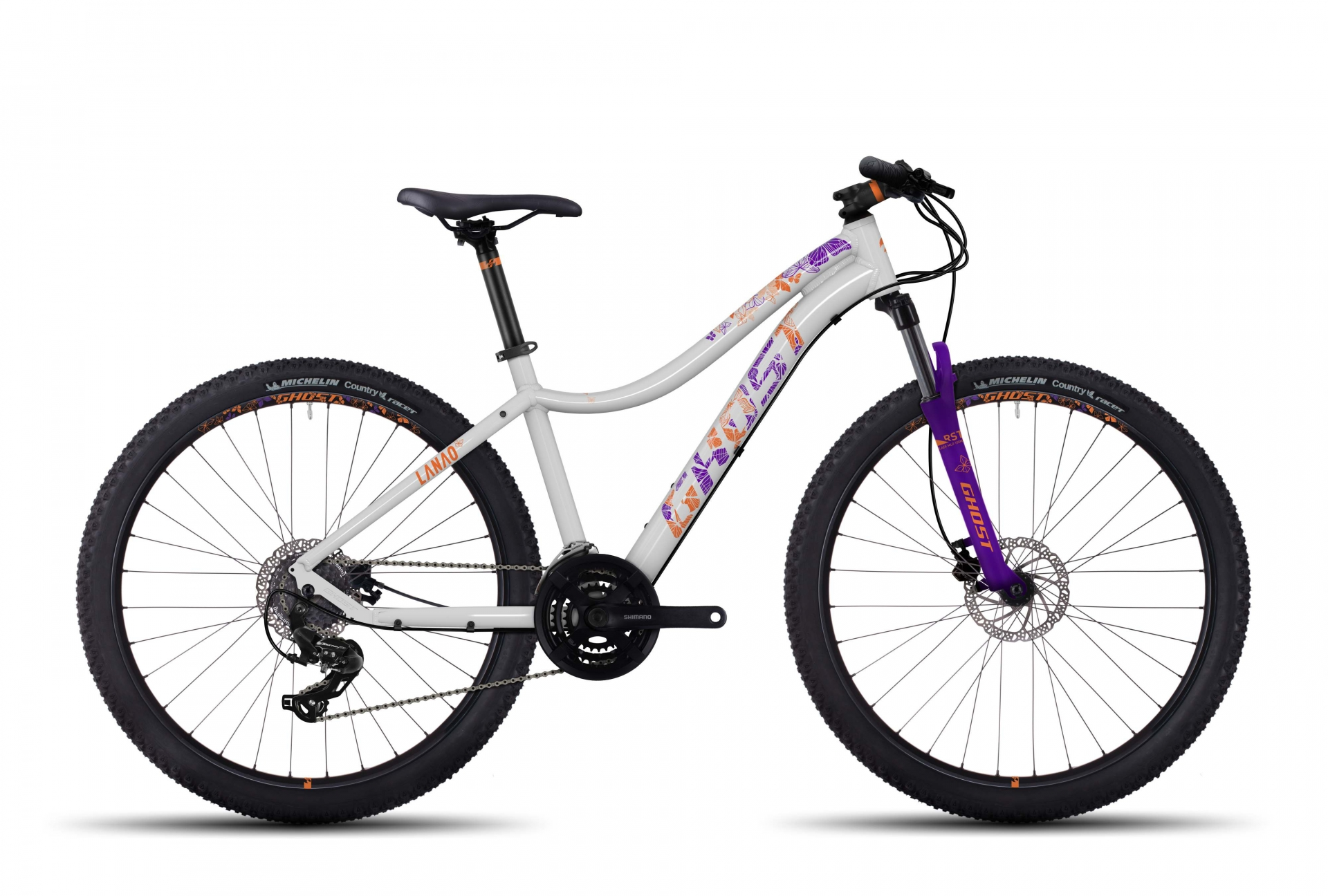 VTT Femme semi-rigide Ghost Lanao 1 27,5 blanc/violet - XXS