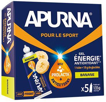 Gel énergie Apurna Banane Étui 5x27 g