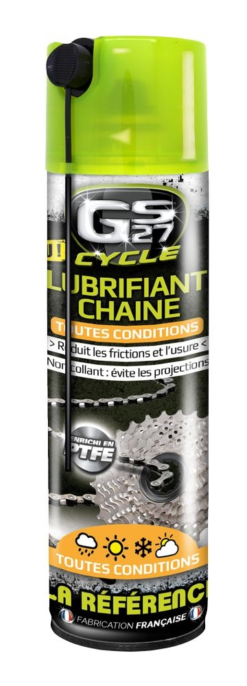 Lubrifiant chaîne GS27 Cycle toutes conditions Spray 250 ml