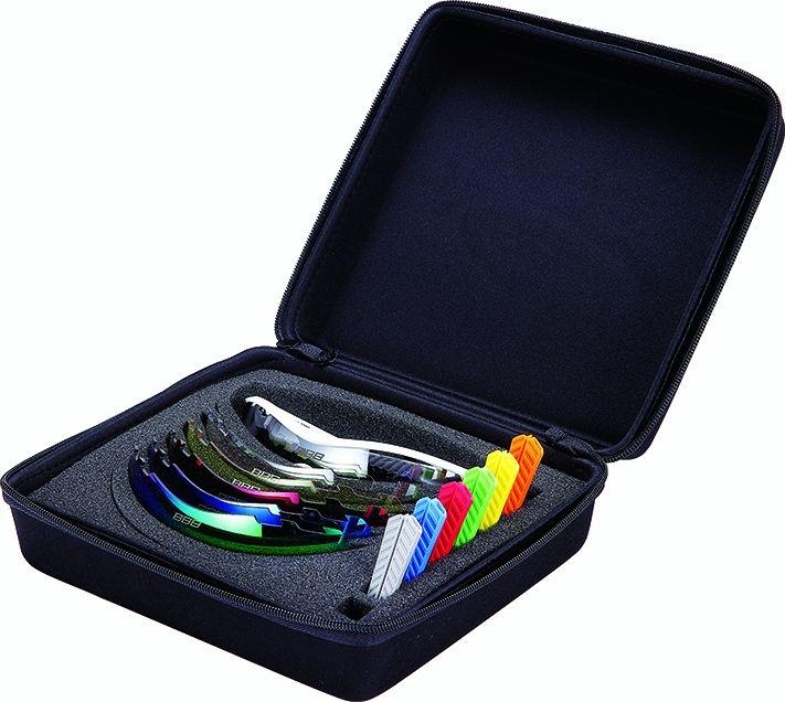 Coffret lunettes BBB Summit Blanc mat, logo argent 5092 - BSG-50BOX