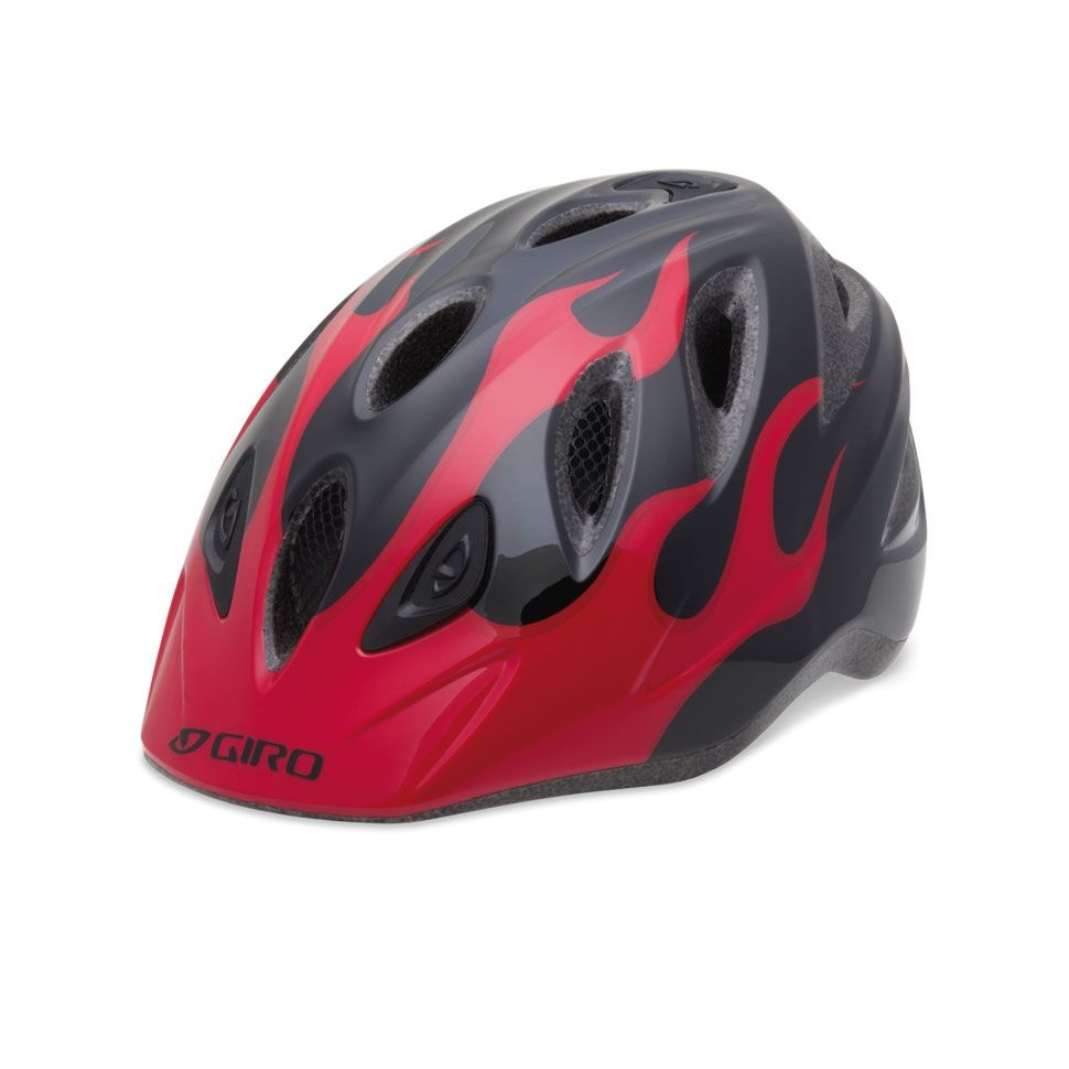 Casque Giro RASCAL Rouge flammes/Noir - 46-50 cm