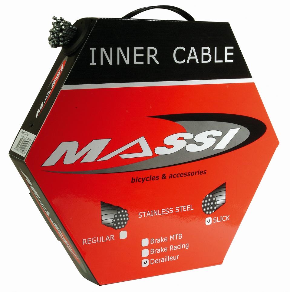 Boîte de 100 câbles de dérailleur STI Massi 1,1x2000 mm