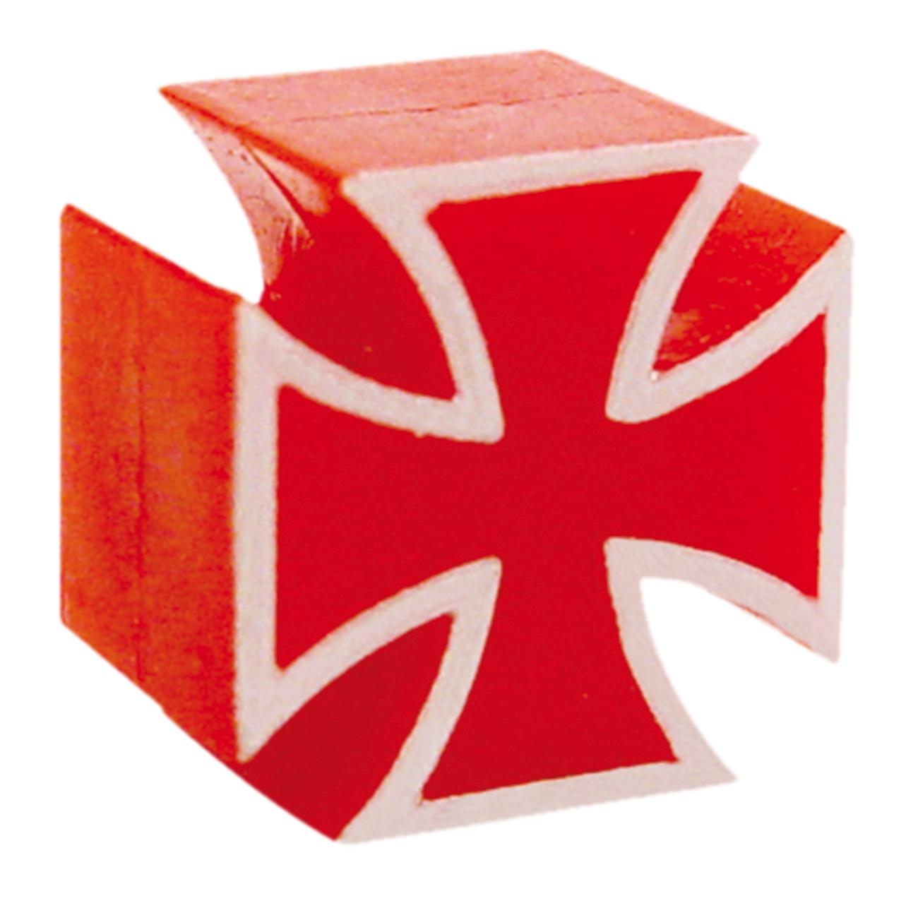 Bouchon de valve TrickTopz Croix Fer Rouge (x2)