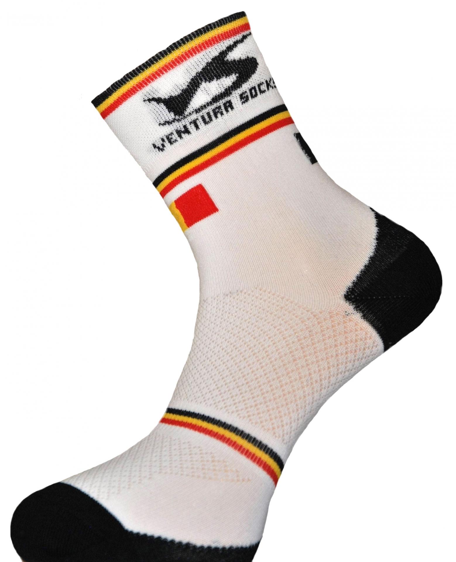 Chaussettes Ventura Socks Carbone Nation Belgique Blanc - 39/42