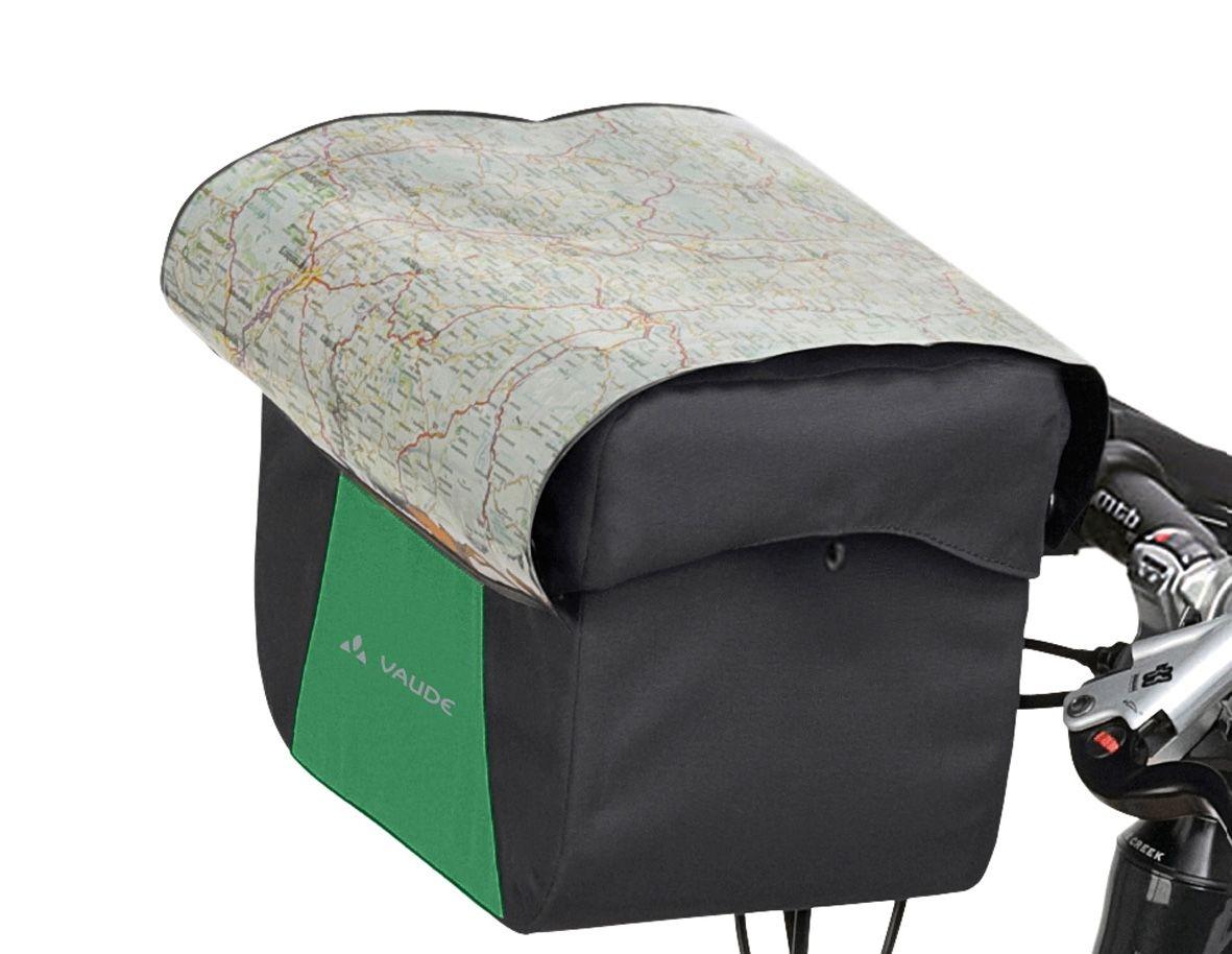 Sacoche de guidon Vaude Discover Box 6 L + support KLICKfix Vert/Noir