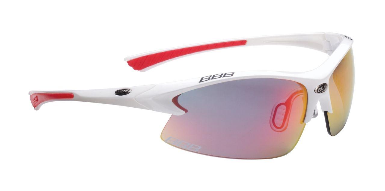 Lunettes BBB Impulse Team verres rouge Revo (blanc/rouge) - BSG-38