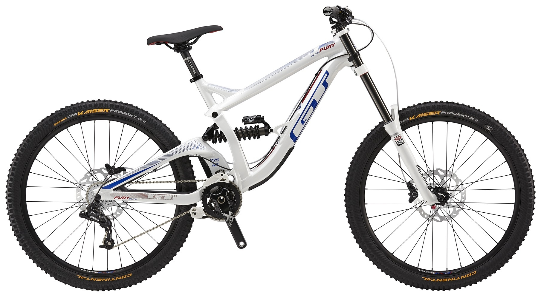 VTT GT Fury Elite 2016 (Blanc brillant) - S