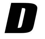 Sticker lettre D Noir