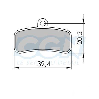 Plaquettes de frein 36 Clarks comp. Shimano SAINT / ZEE Semi métallique