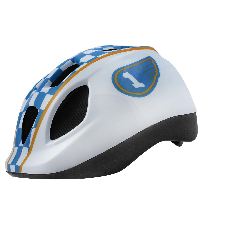 Casque vélo Race Enfant Blanc/Bleu/Jaune - 46/53