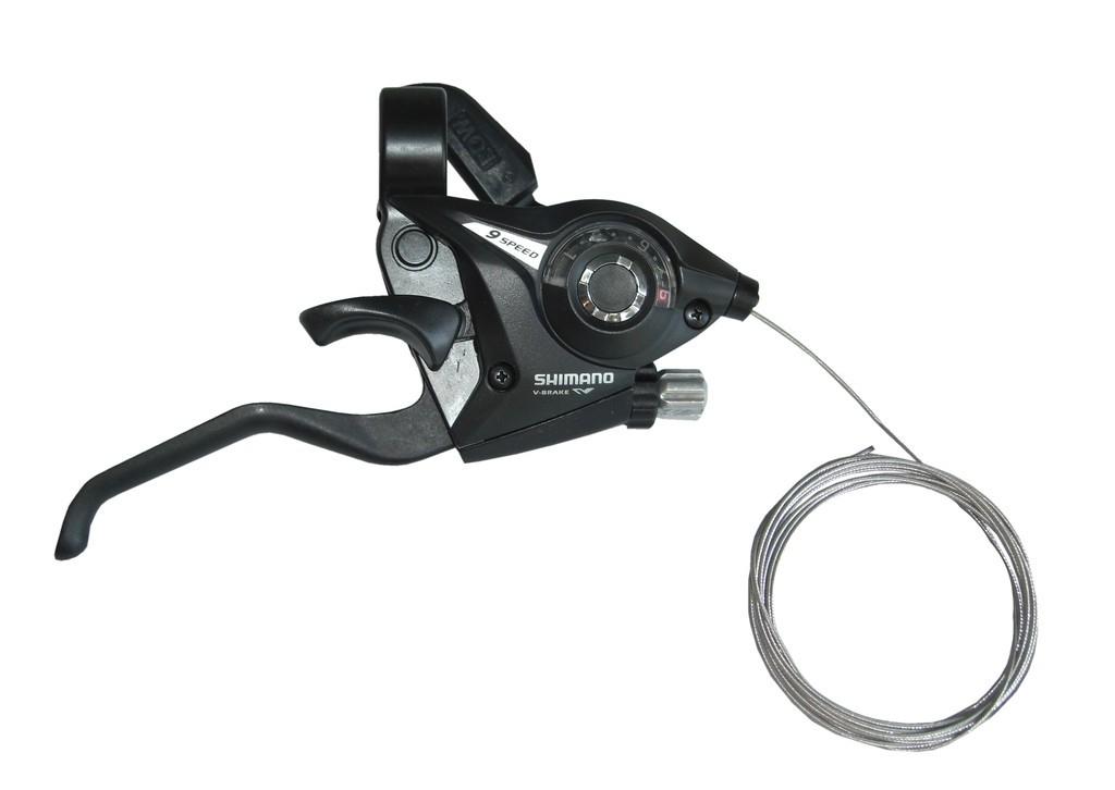 Levier de frein/Manette Shimano ST-EF 51 9V noir à 2 doigts