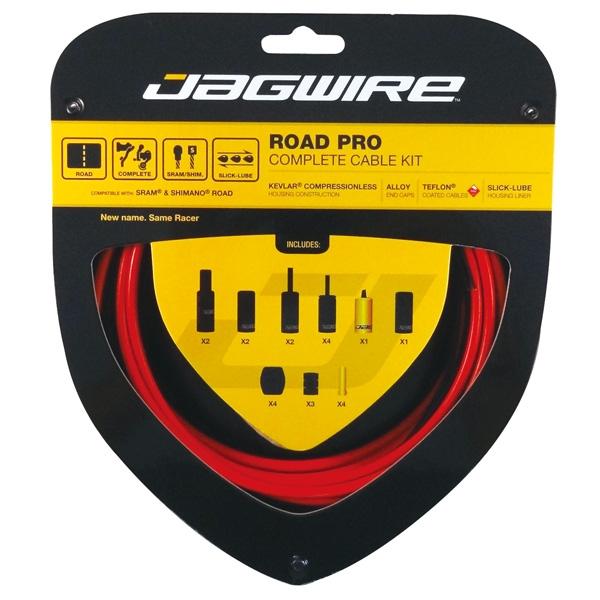 Kit complet câbles et gaines Jagwire Road Pro - Rouge RCK006
