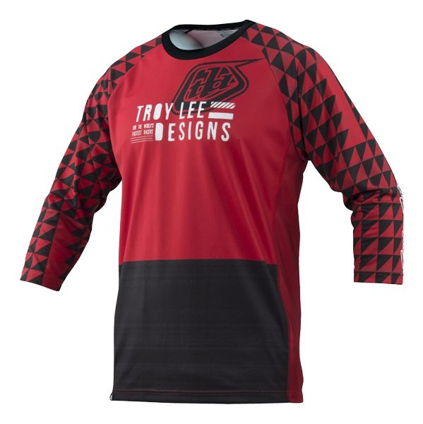 Maillot Troy Lee Designs Ruckus Formation Rouge - S