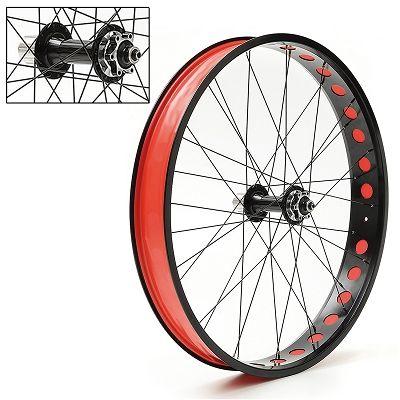 Paire de roues Fat Bike aluminium 26\