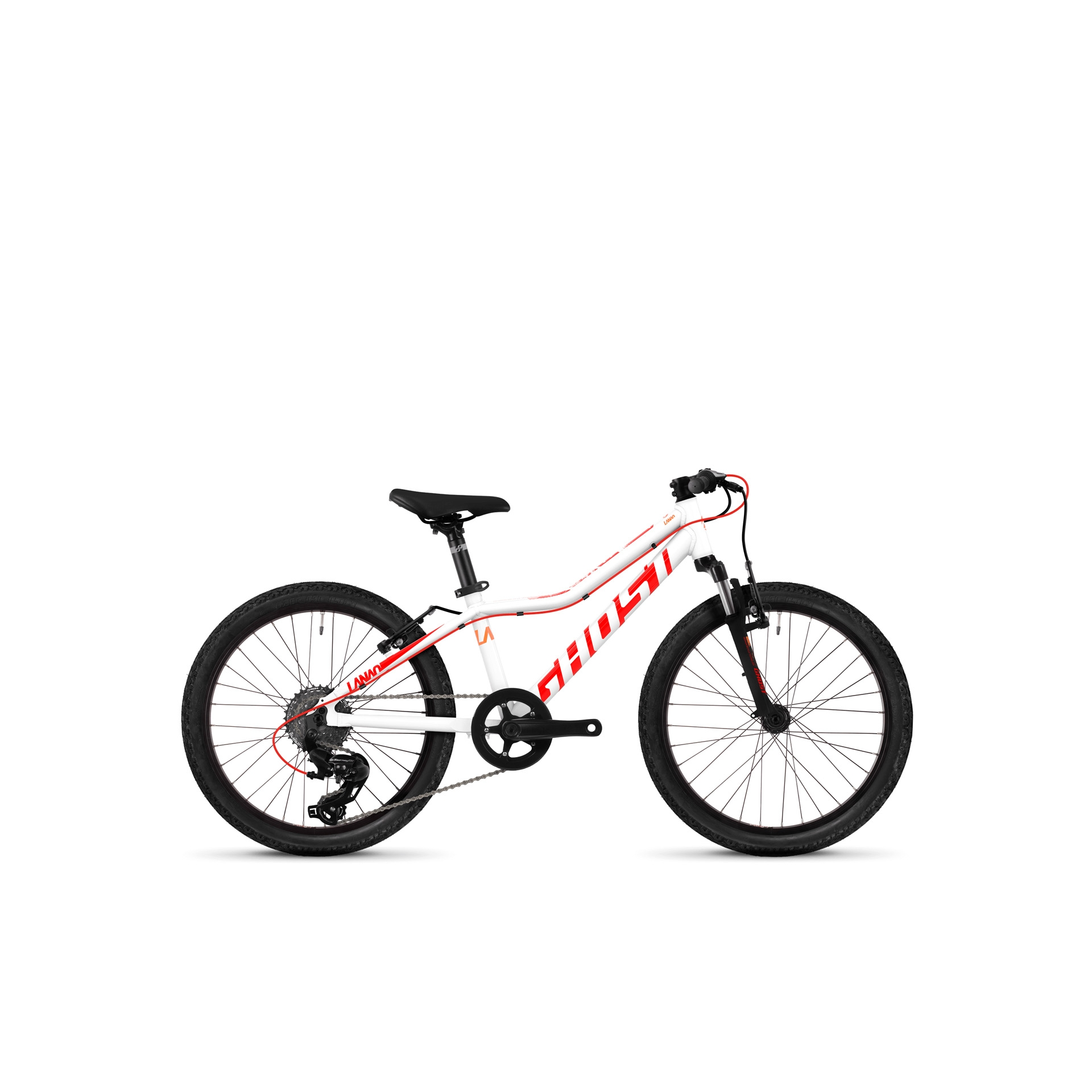 VTT semi-rigide Ghost Lanao Kid 2.0 20 Blanc/Rouge
