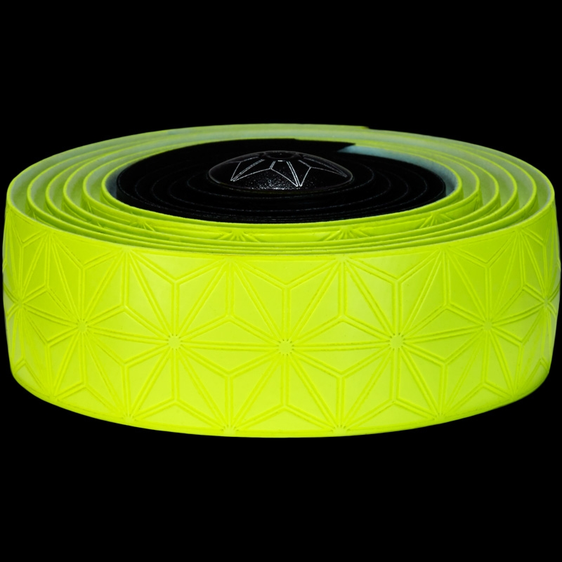 Ruban de cintre Supacaz Super Sticky Kush Tape Jaune Fluo/Noir