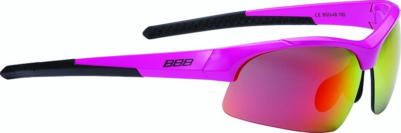 Lunettes BBB Impress Small magenta brillant verres rouges 4804 - BSG-48