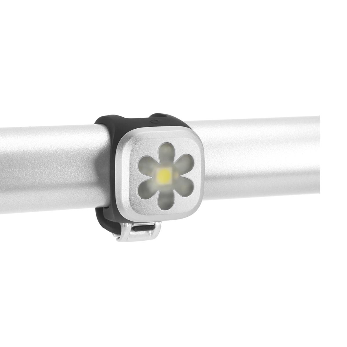 Éclairage avant Knog Blinder Fleur 1 LED - Argent