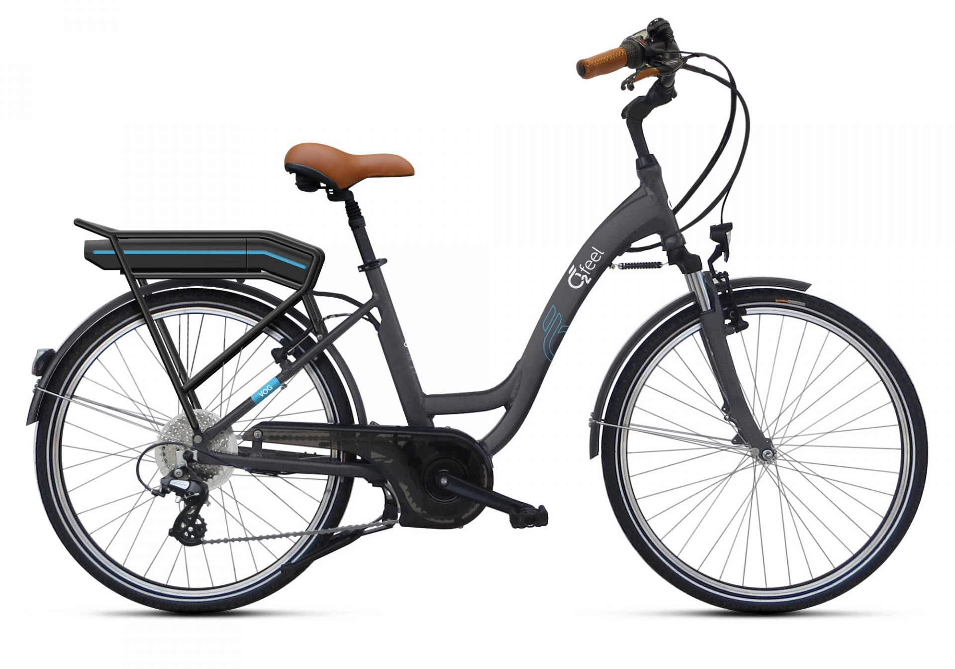 Vélo électrique O2Feel Vog D8C 26 374 Wh Gris