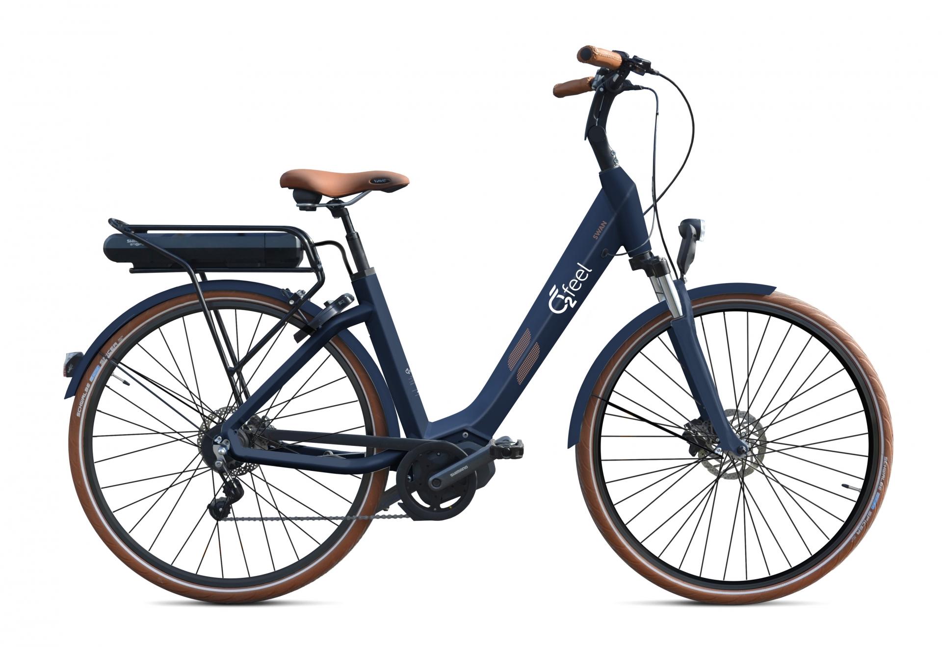Vélo électrique O2Feel Swan N7 28 418 Wh Bleu - 50