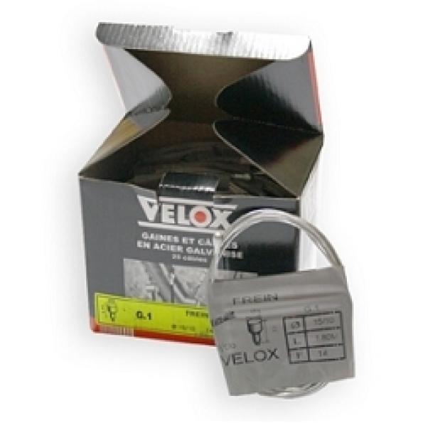 Câble frein vélo galva VELOX 1.80 m arrière (boîte de 25)