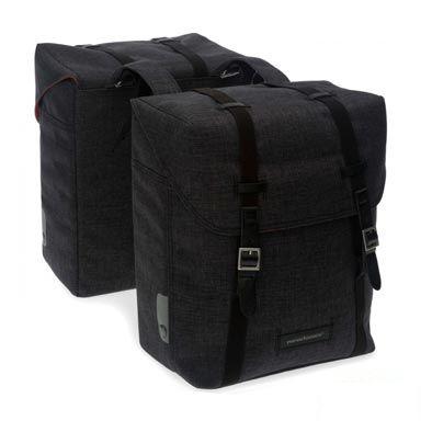 Sacoche double New Looxs Mondi à pont sur porte-bagages 25 L Noir