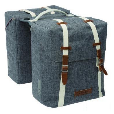 Sacoche double New Looxs Mondi à pont sur porte-bagages comp. Racktime 25 L Gris