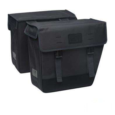 Sacoche double New Looxs Origin Hybride À Pont sur porte-bagages 33 L Noir
