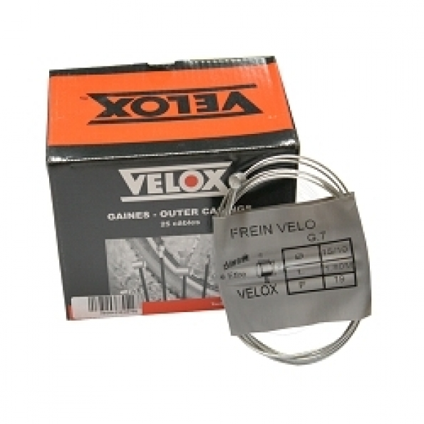 Câble frein vélo VELOX galva 1.80 m arrière VTT 7x6 (boîte de 25)
