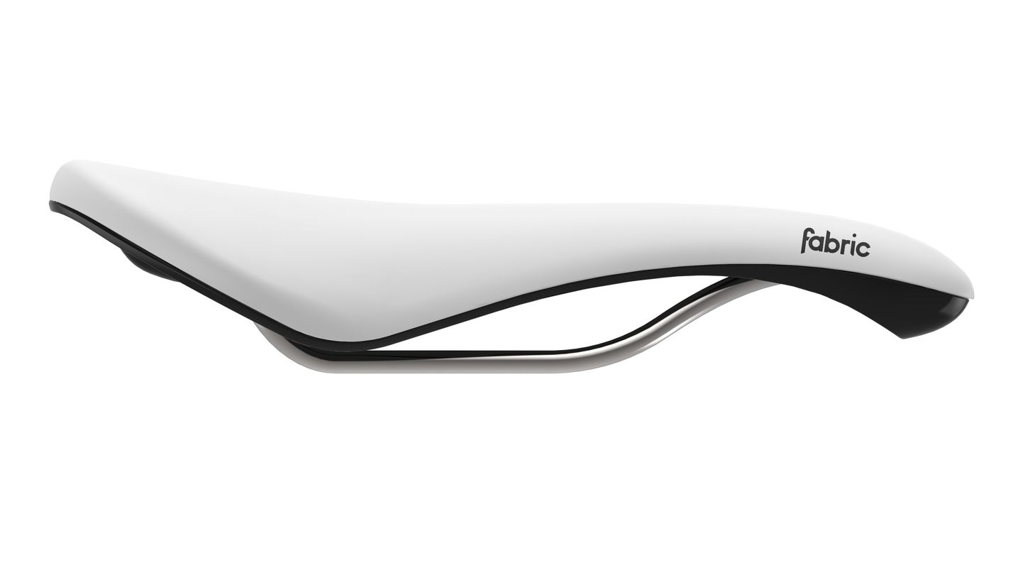 Selle Fabric Scoop Radius Elite 142 mm Blanc/Noir