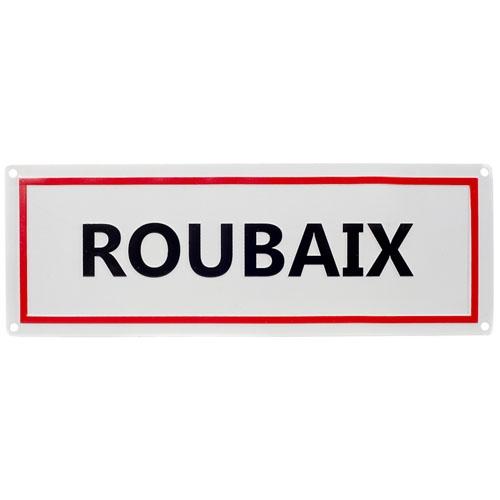 Plaque signalétique ville de Roubaix Aluminium