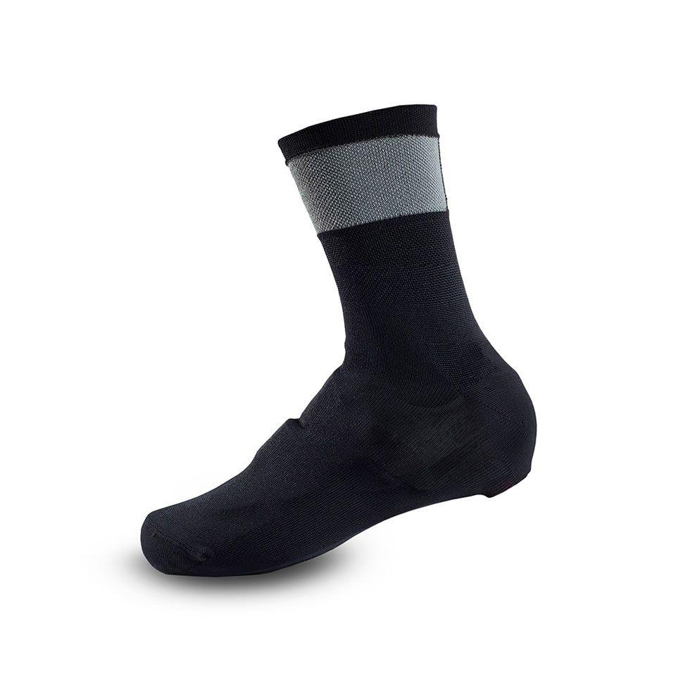 Couvre-chaussures Giro KNIT SHOE COVERS Noir/Réfléchissant - S