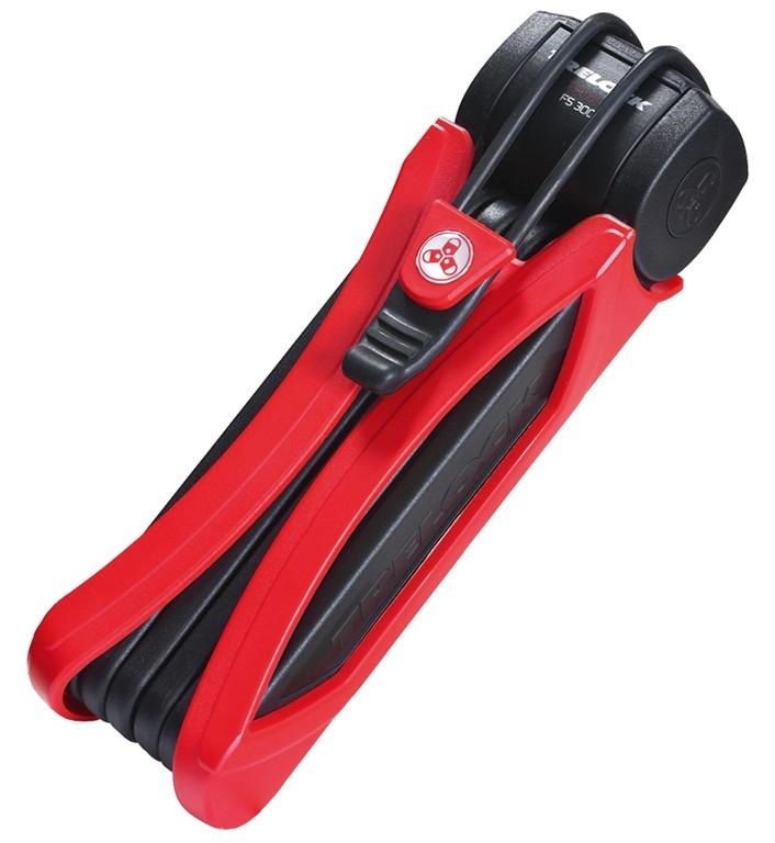 Antivol pliable Trelock Trigo FS 300/85 Noir avec support Rouge