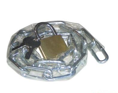 Antivol chaîne 70 cm gainée + Cadenas Argent